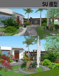 古典中式庭院景观 skp