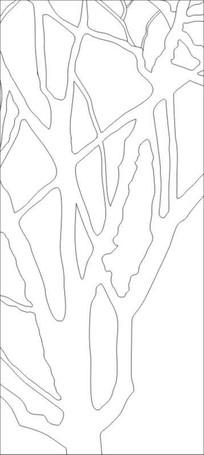 黑白树雕刻图案