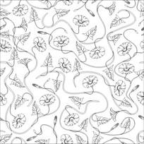 喇叭花雕刻图案