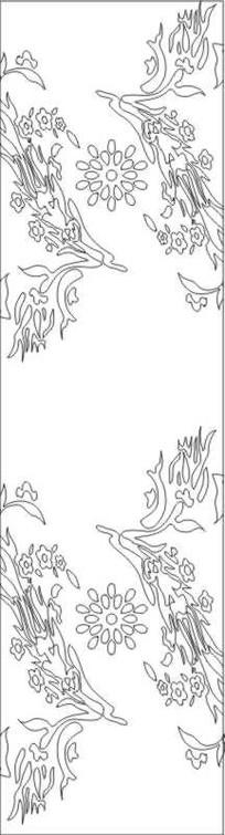 龙凤草雕刻图案
