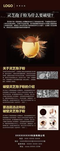 破壁灵芝孢子粉易拉宝设计