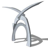 标志性创意雕塑su模型