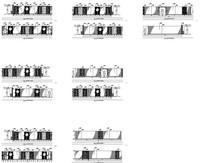 茶镜墙纸拼接客房走道平立面图