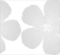 抽象圆形花雕刻图案