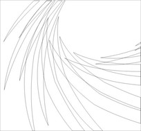 抽象羽毛雕刻图案