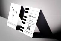 创意钢琴培训名片设计 AI