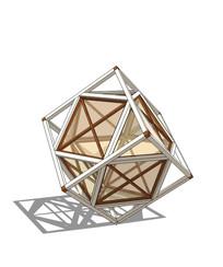 创意立方体雕塑模型 skp