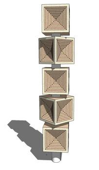 创意音响造型雕塑su模型