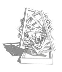 创意艺术雕塑模型 skp