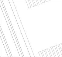 单边线雕刻图案