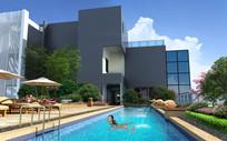 度假村酒店泳池 JPG