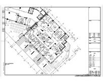 公寓酒店三层办公区域平面图