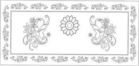 花边花纹台面花雕刻图案