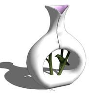 花瓶造型雕塑模型
