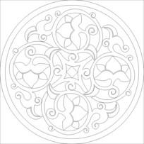 花形圆环雕刻图案