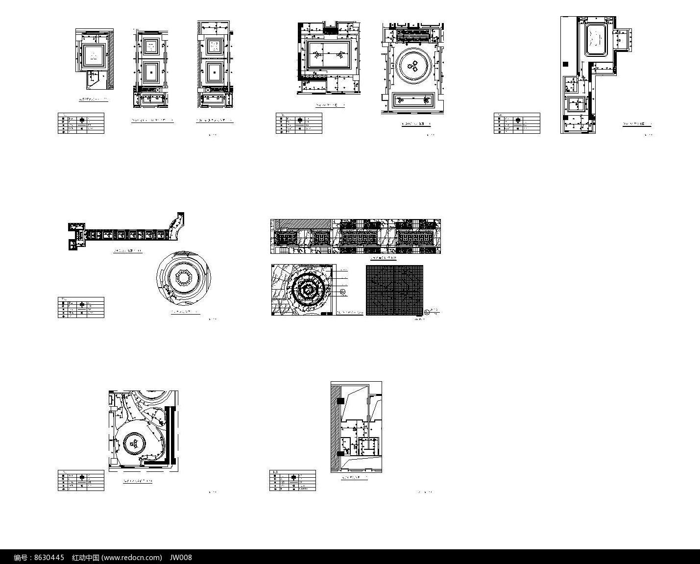 混搭风餐厅灯具定位图图片