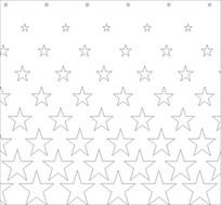 渐变五角星雕刻图案
