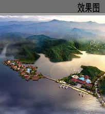 尖峰阾天池度假村鸟瞰图