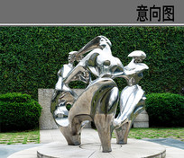 金属人物雕像