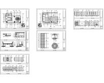酒店U型桌子会议室平立面图