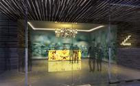 酒店地下玻璃大堂效果图 JPG