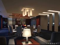酒店古典餐厅包间效果图 JPG