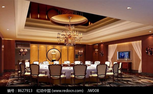酒店古典木头色包厢效果图图片