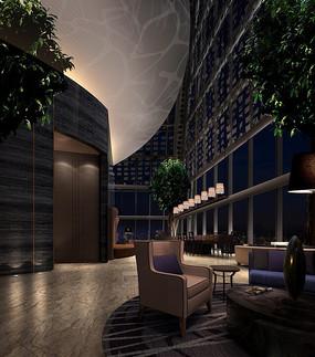 酒店欧式古典大堂吧