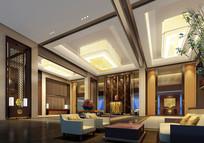 酒店欧式古典风大堂效果图