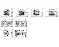 酒店欧式套房卫生间平立面图