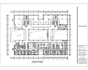 酒店四层办公区平面布置图