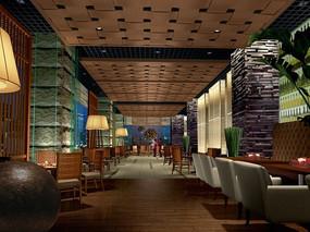 酒店亚洲熟食餐厅效果图