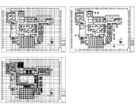 酒店一层民族风餐饮食堂平面图