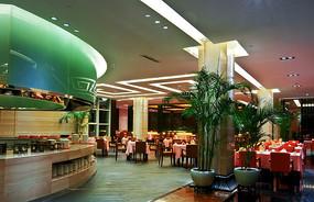酒店中式餐厅食堂效果图