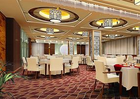 酒店中式中餐厅效果图