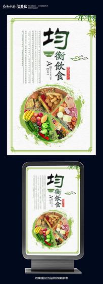 均衡饮食宣传海报