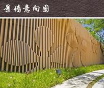 立体花朵装饰景墙 JPG