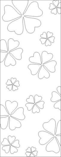 六桃花雕刻图案