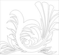 龙纹花雕刻图案