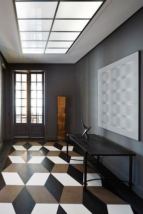 美式别墅—黑白境界