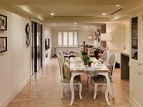 美式复古风格住房餐厅设计装修