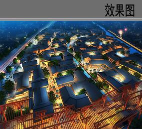 宁波天宫庄园夜景鸟瞰图
