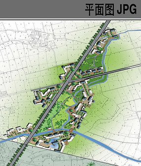 葡萄生产基地规划设计平面图