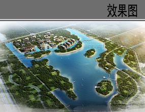 沙湖建筑鸟瞰图