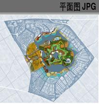 生态园中心展区秋季景观平面图