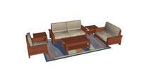 室内沙发组合SU模型