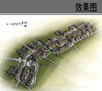 石羊镇徐渡规划鸟瞰图