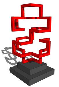 特殊符号雕塑su模型
