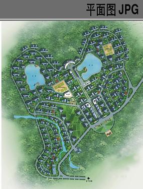 田园风光乡村规划设计平面图