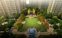 小区竖向喷泉景观设计 JPG